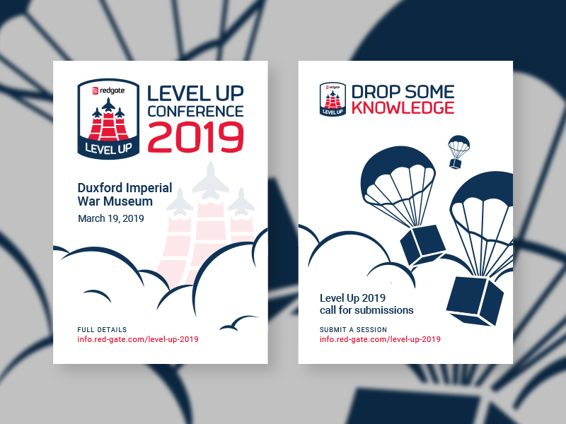Level Up Conference 2019 posters aircraft airdrop drop some knowledge call for submissions level up poster conference