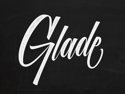 Glade type brush pen calligraphy hand type lettering