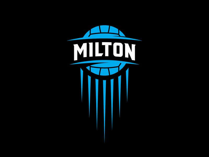 Milton Netball Club logo team sports netball logo