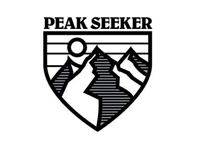 Peak Seeker adobe illustrator illustration logos logo mountain mountains badge illustrator adobe