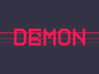 Daemon Logo pixel digital camcorder vhs analog glitch design game logo scanline daemon