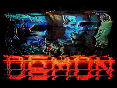 DAEMON - Glitched tachyons cyberpunk pixel digital vhs analog glitch design game logo scanline daemon