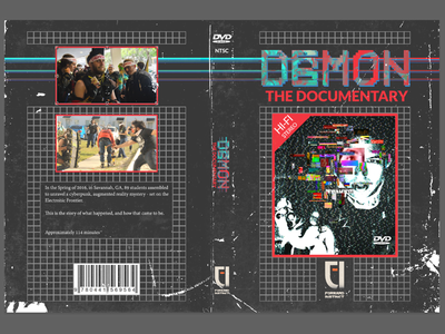 DAEMON Documentary Cover dvd cyberpunk pixel digital vhs analog glitch design game package scanline daemon