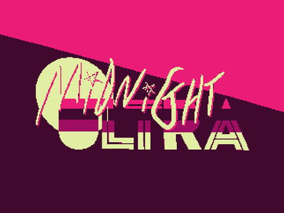 Midnight Ultra Logo pixel doom retro vhs occult glitch design game logo western witch