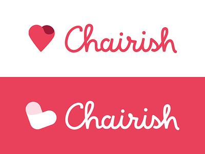 Chairish Logo Exploration logo mark icon script heart pink