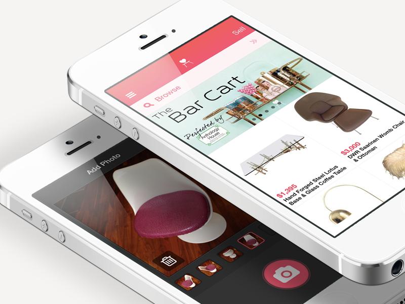 Chairish iPhone App iphone app furniture sell camera chairish