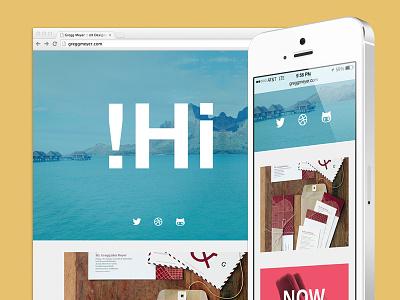 Updated Portfolio portfolio personal projects browser iphone bora bora chrome