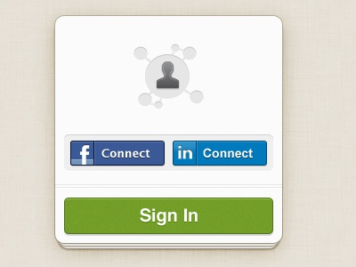 Sample Connect Sign-In connect facebook linked in buttons stack