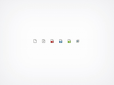Dribbble file type icons rebound
