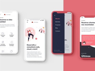 Mimotic responsive web design responsive product design ux illustration ui mobile web uxui design