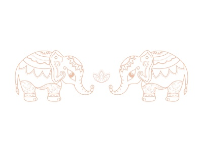 Indian elephants from Jaipur branding tattoo symmetry graphic design india jaipur elephant illustration