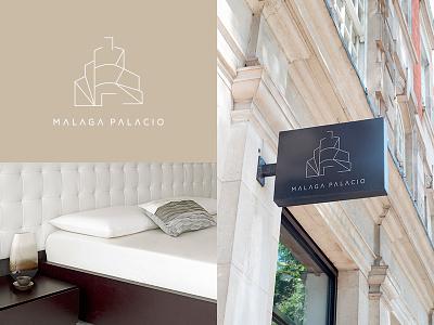 Logo AC Malaga Palacio Hotel symbol icon typography color branding brand identity logotype logo print graphic hotel