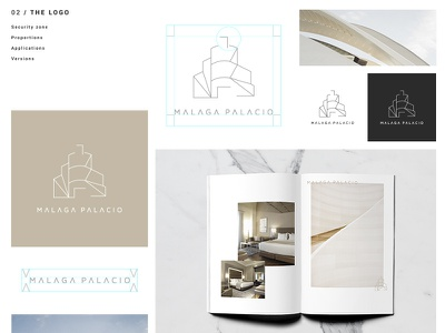Logo AC Malaga Palacio Hotel typography symbol logotype print logo identity icon hotel graphic color branding brand
