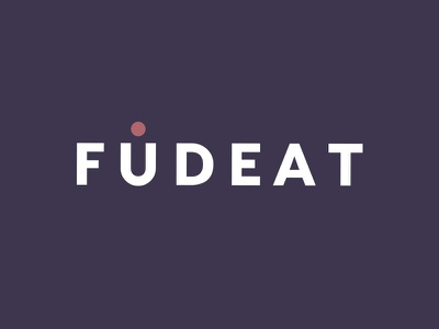 Fudeat Logo eat foodie food catering type graphic design logotype logo design color branding brand
