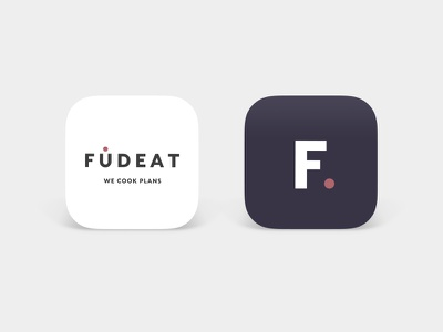 Fudeat Logo & Symbol eat foodie food catering type graphic design app logo design color branding brand