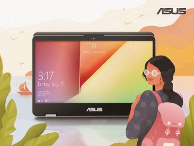 Asus web art technology vector content design design illustration asus