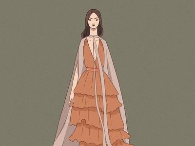 Illustration made for MB Fashion week MX fashion art illustration design