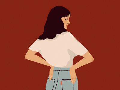 Blue Jean jeans photoshop fashion illustration fashion art content design illustration design