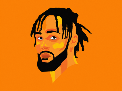 Gary Trent Jr portrait illustration gary trent jr gary trent jr portrait adobe design vector illustration nba basketball illustrator