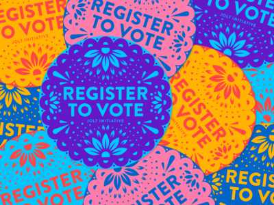 Register to Vote Stickers for Jolt Initiative