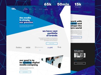 High Media. Website concept