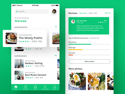 TripAdvisor  🌎 App | Concept finder search travel profile restaurant reviews list trip redesign mobile