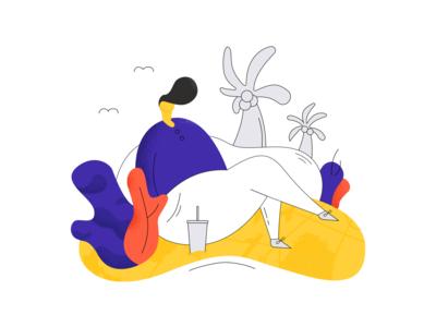 Summer illustration  🏝