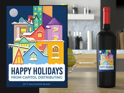Holiday Wine Label