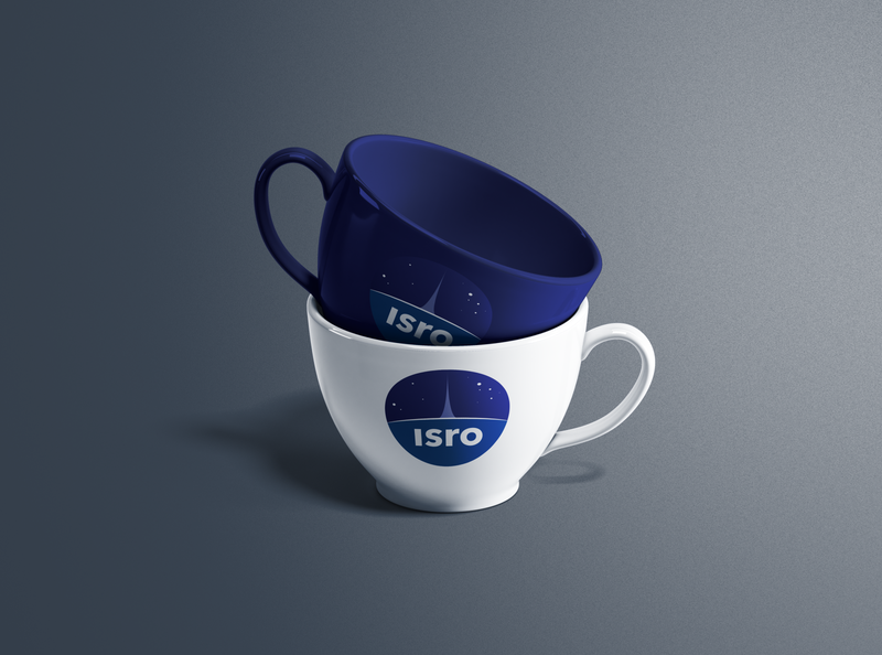 ISRO Tea Cups mockup cup product design spacex space isro nasa ux branding logo