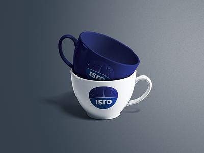 ISRO Tea Cups mockup cup product design spacex space isro nasa ux branding logo