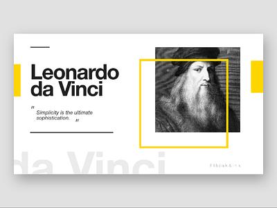 Think and Ink - 01 . Leonardo da Vinci - White Version ux ui adobe xd typography web
