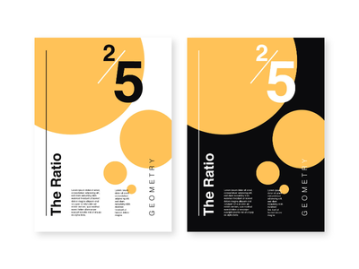 The 2/5 Ratio poster illustrator typogaphy proportion ratio layout grid layout grid geometry
