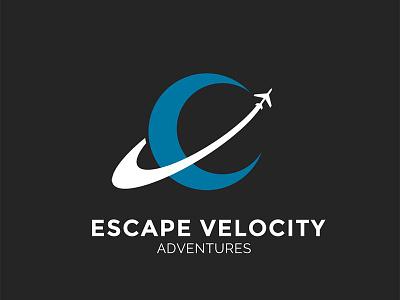 Escape Velocity Logo Design photoshop adobe negative space space identity agency trave icon branding logo design