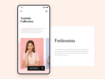 Autumn Collections inspiration ios shopping e commerce fashion adobe xd android app android design ux ui