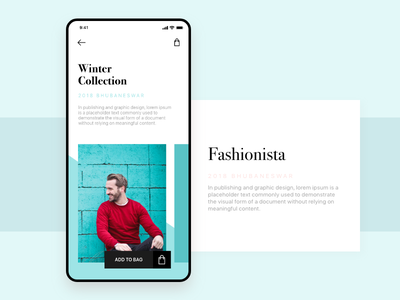 Winter Collections web ad collection winter fashion e commerce shopping android adobe xd design ux ui