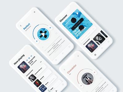 BitBeat music app simple user interface song lyrics music app ios adobe xd ui ux design