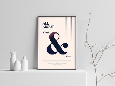 Music And Design music typogaphy poster vector adobe illustrator illustration design