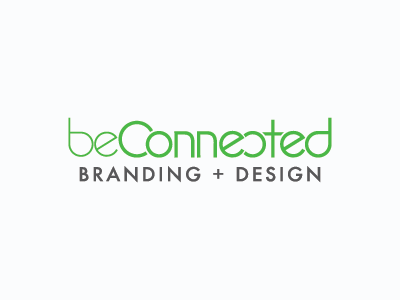 beConnected Branding + Design branding logo