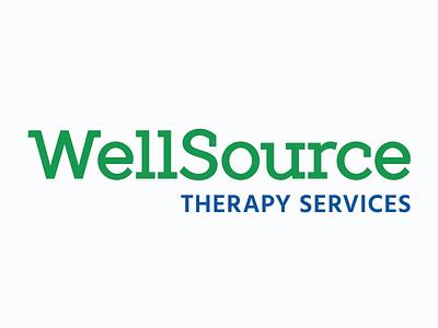 WellSource Therapy typography design logo branding