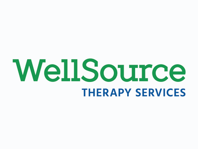 WellSource Therapy typography design logo branding