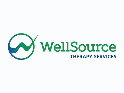 WellSource Therapy Logo typography design mark icon logo branding