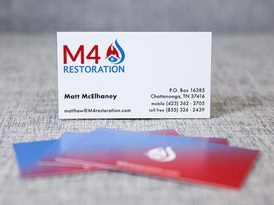 M4 Restoration card business card logo branding
