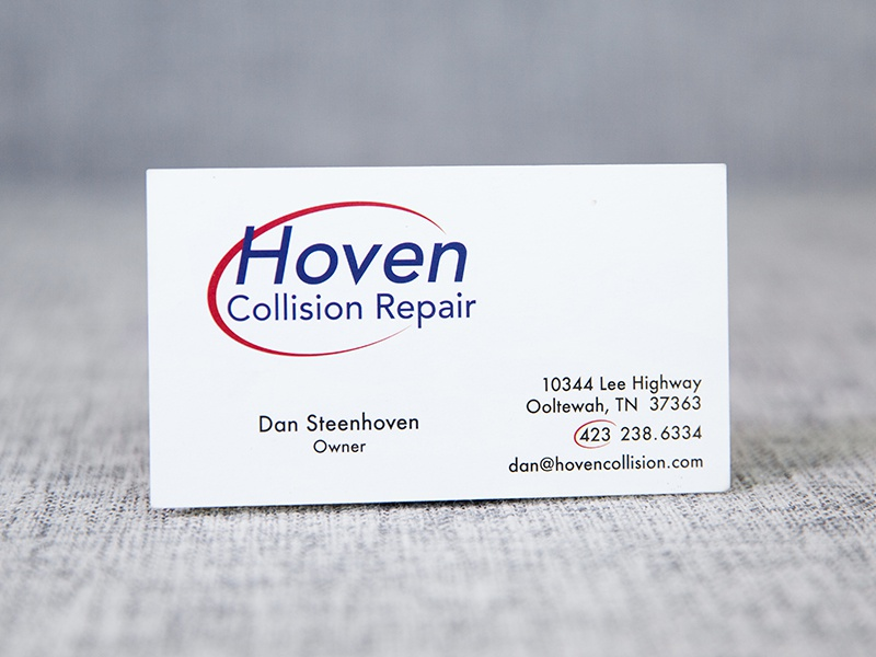 Hoven Collision card design logo design business card logo branding