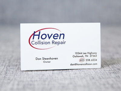 Hoven Collision card design logo design business card logo branding