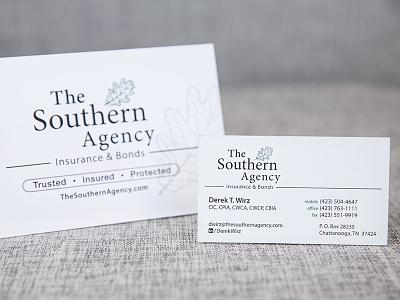 The Southern Agency card logo design business card logo branding