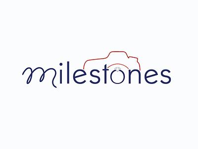 Milestones logo logo design mark logo branding