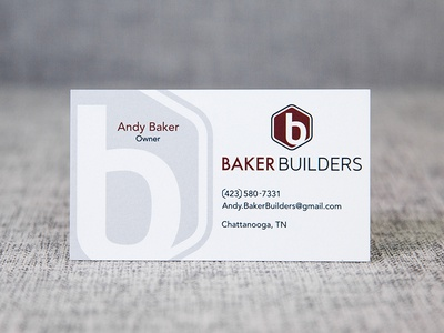 Baker Builders card logo design business card logo branding