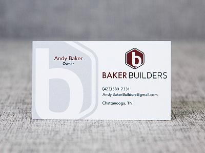 Baker Builders card logo design business card logo branding