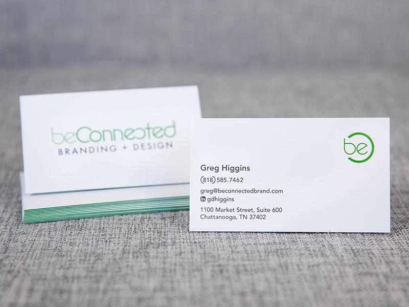 beconnected card logo design business card logo branding