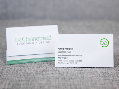 beconnected card logo design business card logo branding